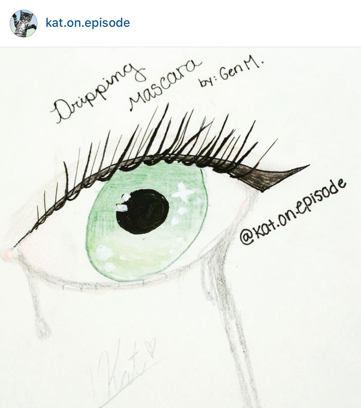 """""""Green Eyes"""" by @kat.on.episode"""