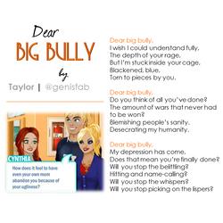 """""""Dear Big Bully"""" © 2016"""