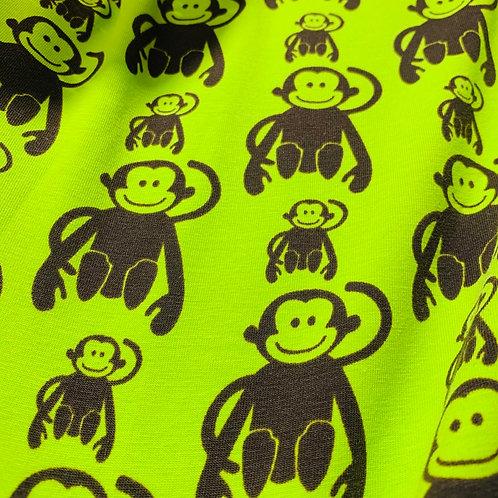 Monkey print jersey