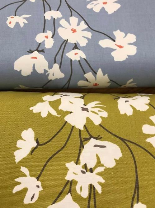 Flowers woven cotton