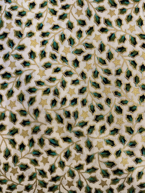Gold green mini holly cotton