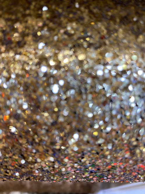 Glitter gold fabric