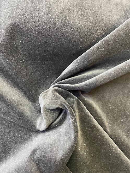 Blk cotton velvet 150cm
