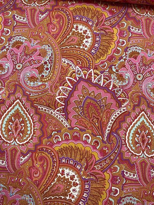 Paisley cotton canvas