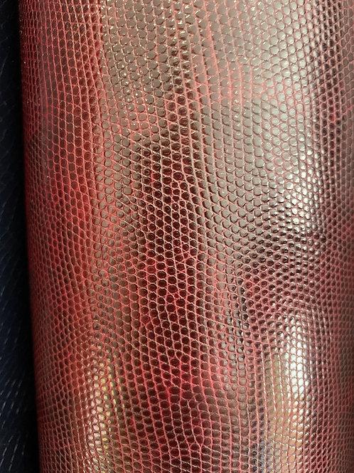 Marroon Snakeskin PVC