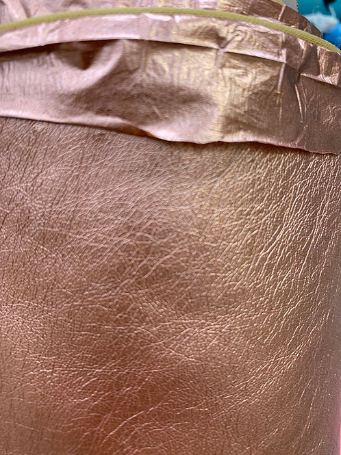 Rose gold leatherette