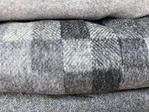 Grey print wool