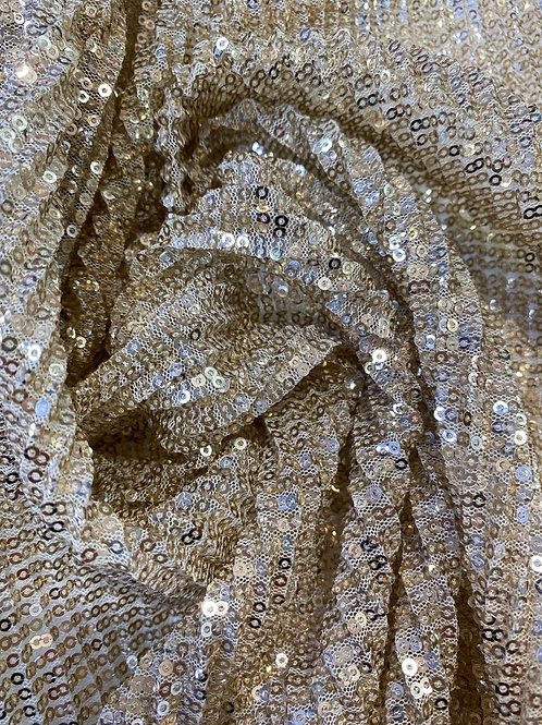 """Gold sequin jersey 60"""""""