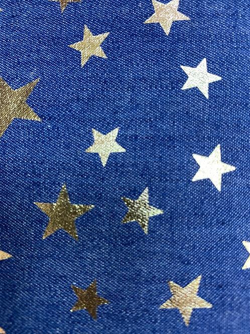 Gold star chambray