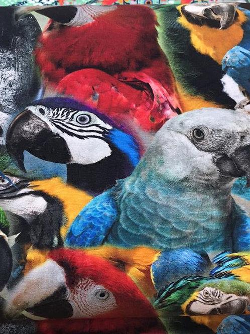 Digital print parrot jersey