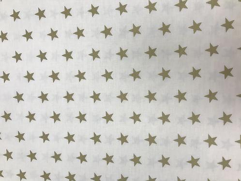 Gold white star cotton