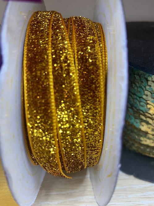 Velvet shimmer ribbon
