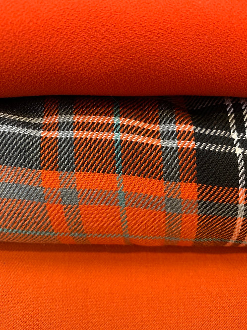 Tartan orange /grey