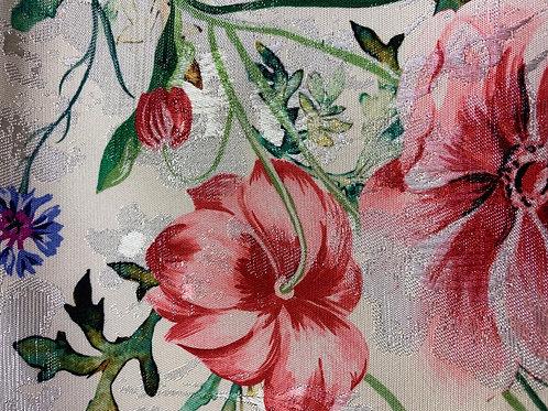 Sateen print flowers