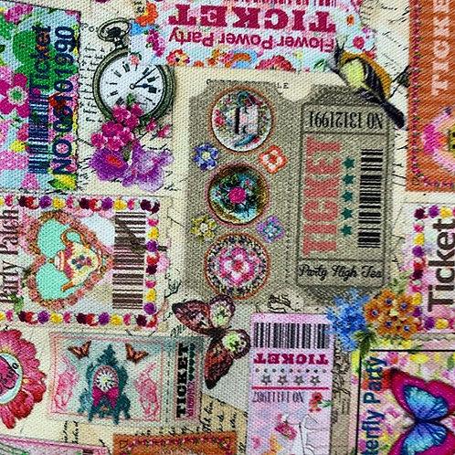 vintage print woven cotton