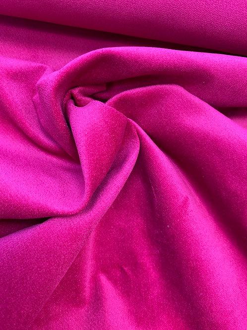 Cerise cotton velvet