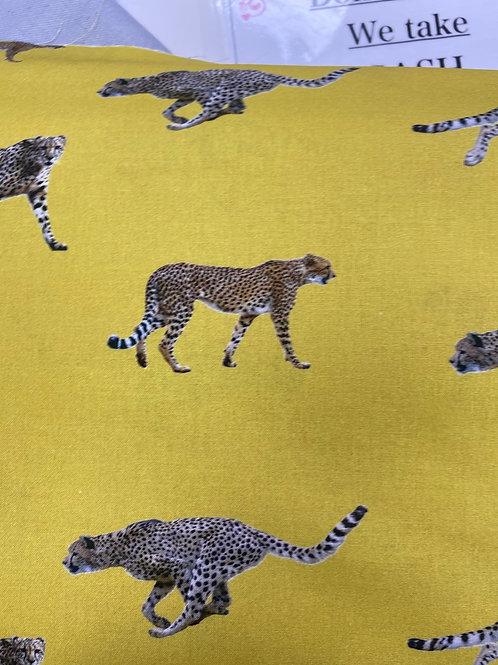 Cheetah  mustard cotton