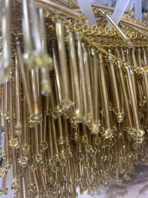 Gold glass fringe