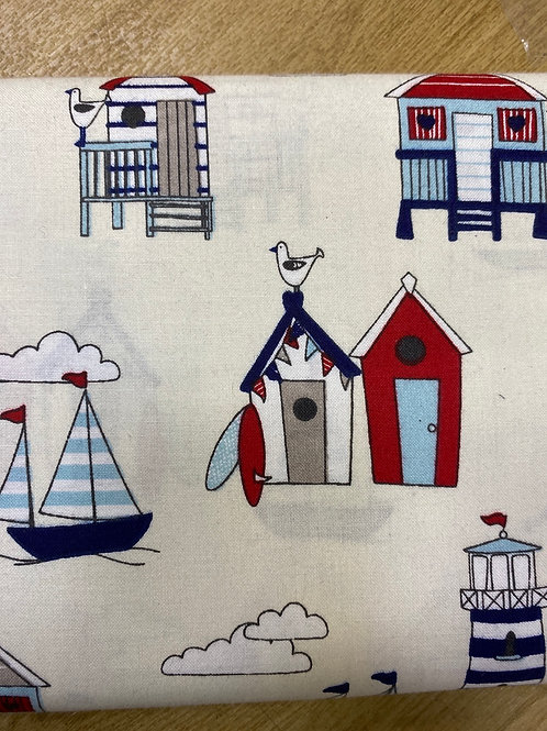 Beach Hut cotton 150cm