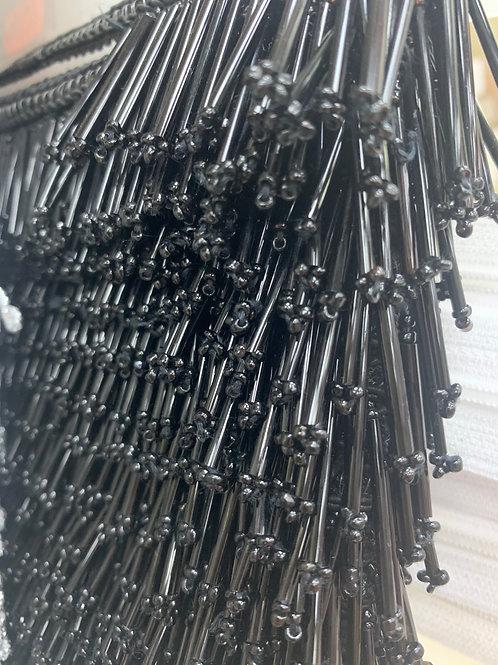 Glass bead fringe