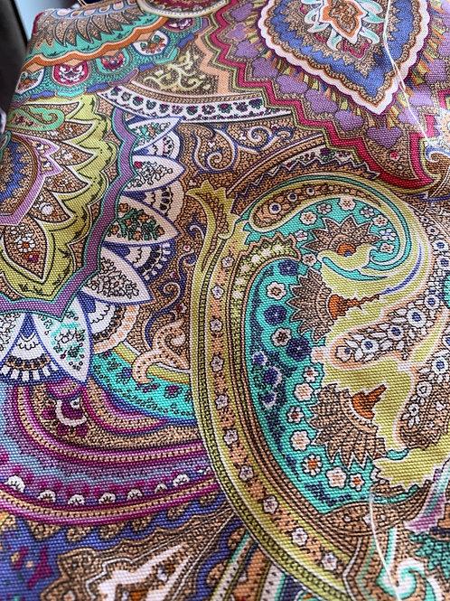 Paisley woven cotton