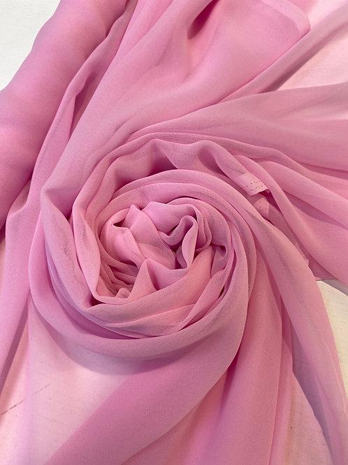 """Baby pink chiffon 45"""""""