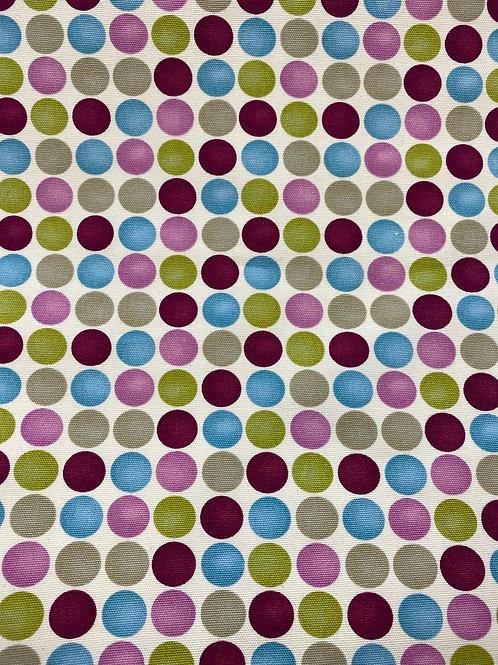 Spotty dot cotton canvas