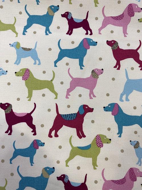 Dogs cotton canvas
