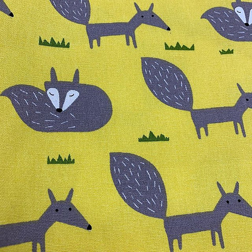 Yellow Fox woven cotton