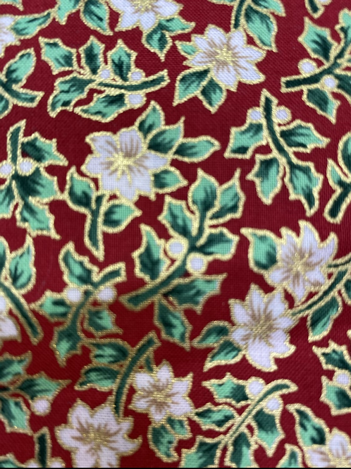 Christmas gold red cotton