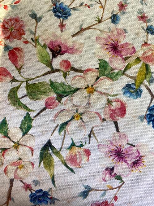Spring garden cotton canvas