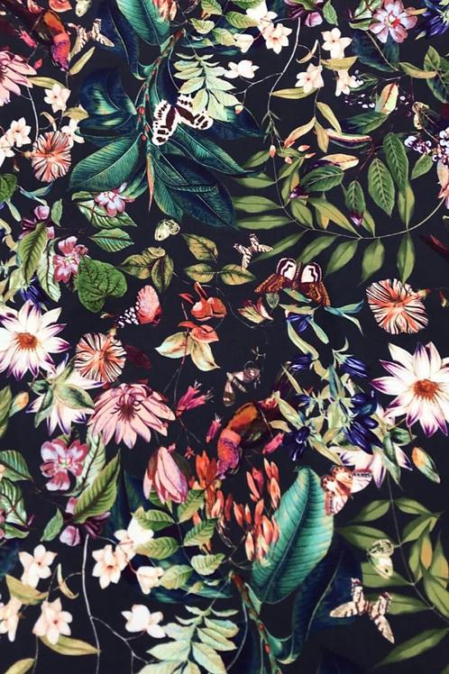 Sateen flowers butterflies