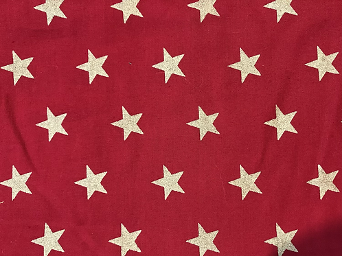 Gold star red cotton