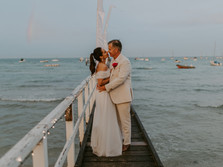 JADE & SIMON'S BEACH WEDDING AT THE BATHS