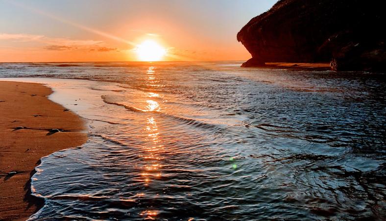 ヒーフィートラックトレッキング 西海岸の夕焼け