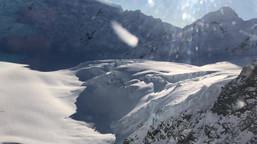 マウントクック タスマン氷河の上部