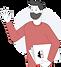 Man waving with villiv folder