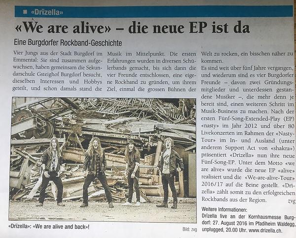 We are alive - die neue EP ist da