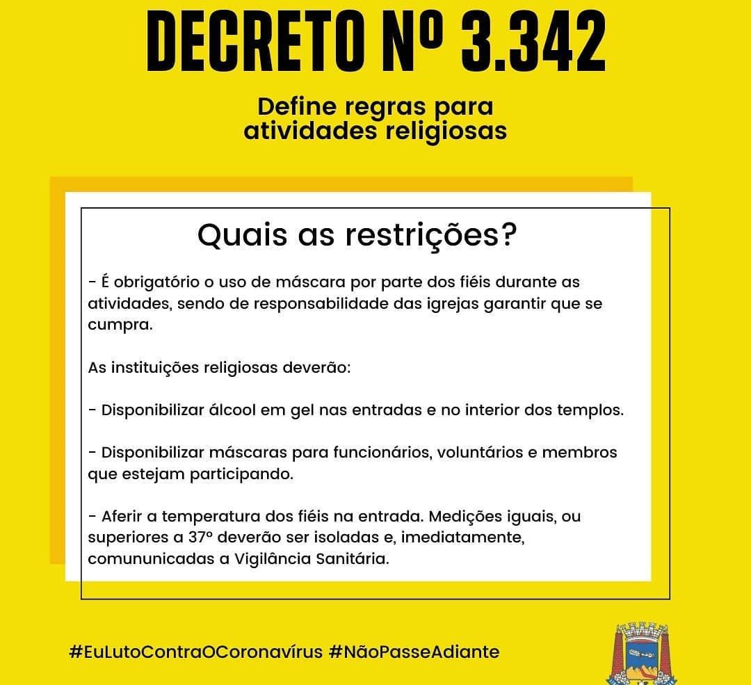 Decreto Nº 3342 - Prefeitura Municipal de Santos Dumont, MG