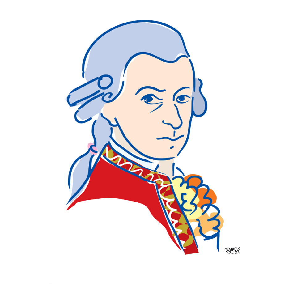 Wolfgang Amadeus Mozart ©Sauro