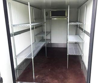 racking inside fridge freezer trailer 9.