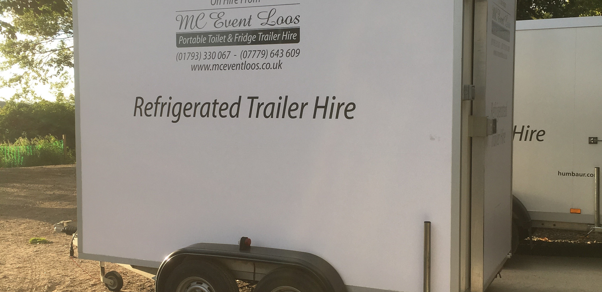 Refrigerated fridge trailer hire