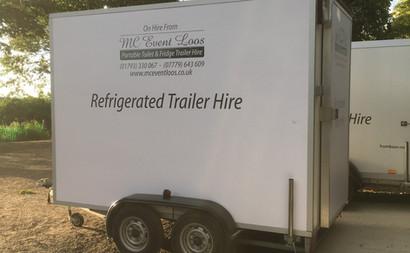 Refrigerated fridge trailer hire