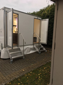 1 + 1 luxury toilet hire range