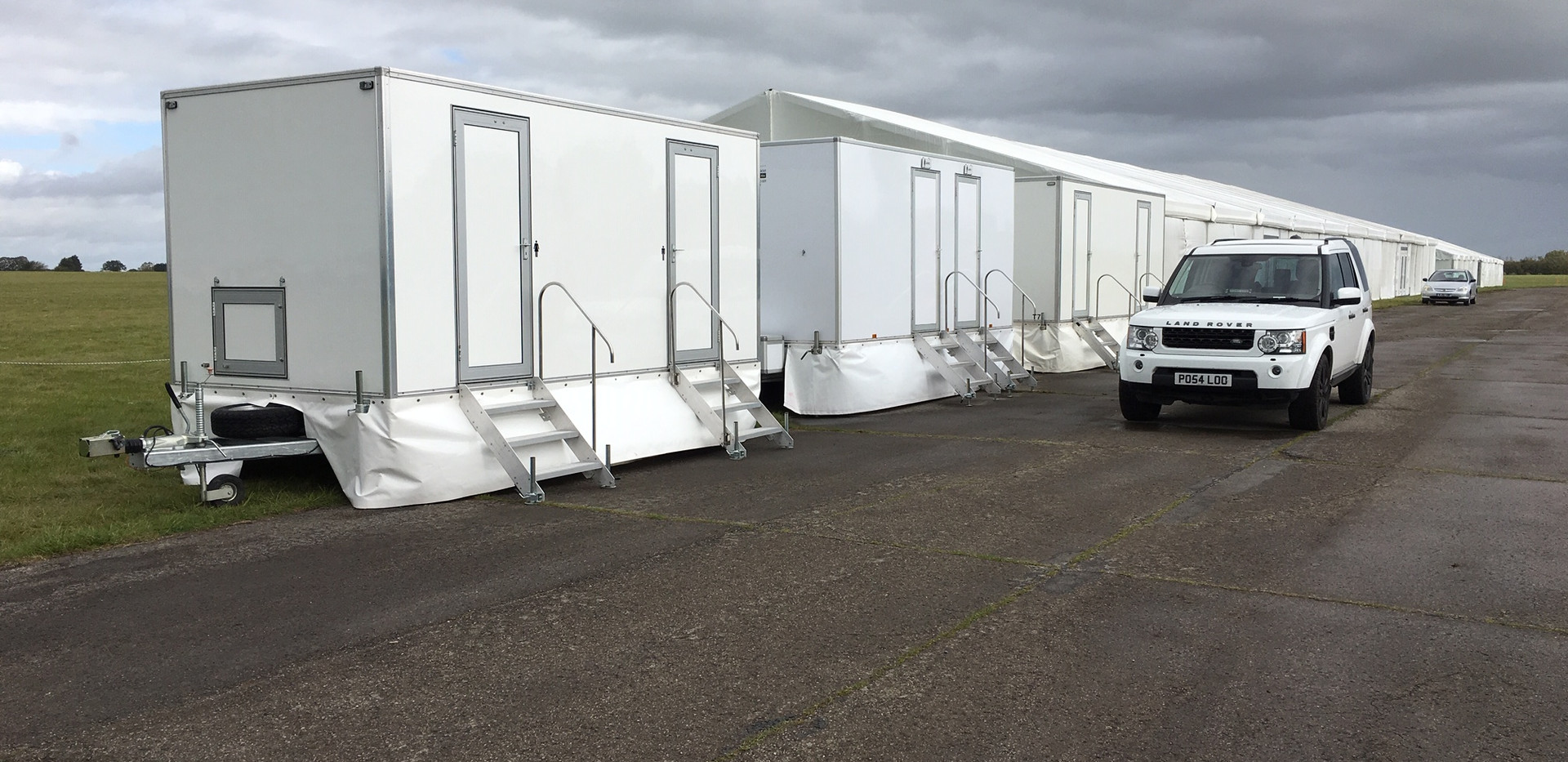 3 + 1 luxury toilet hire range