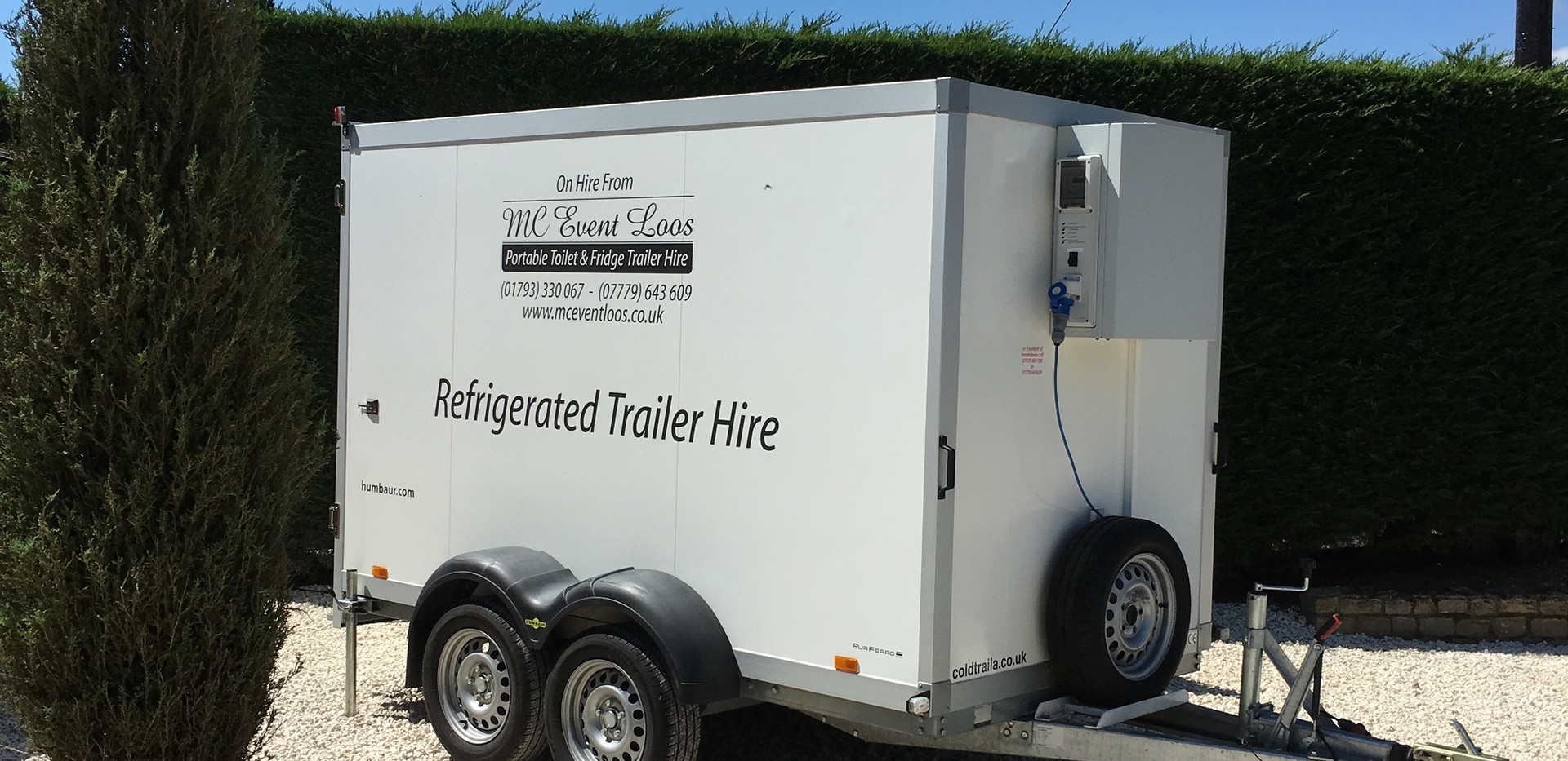 Refrigerated trailer hire weddings corpo