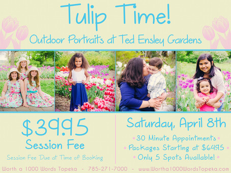 Tulip Time Outdoor Portraits!