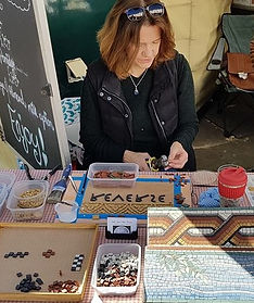 Ruth at work on the Mosaic.jpg