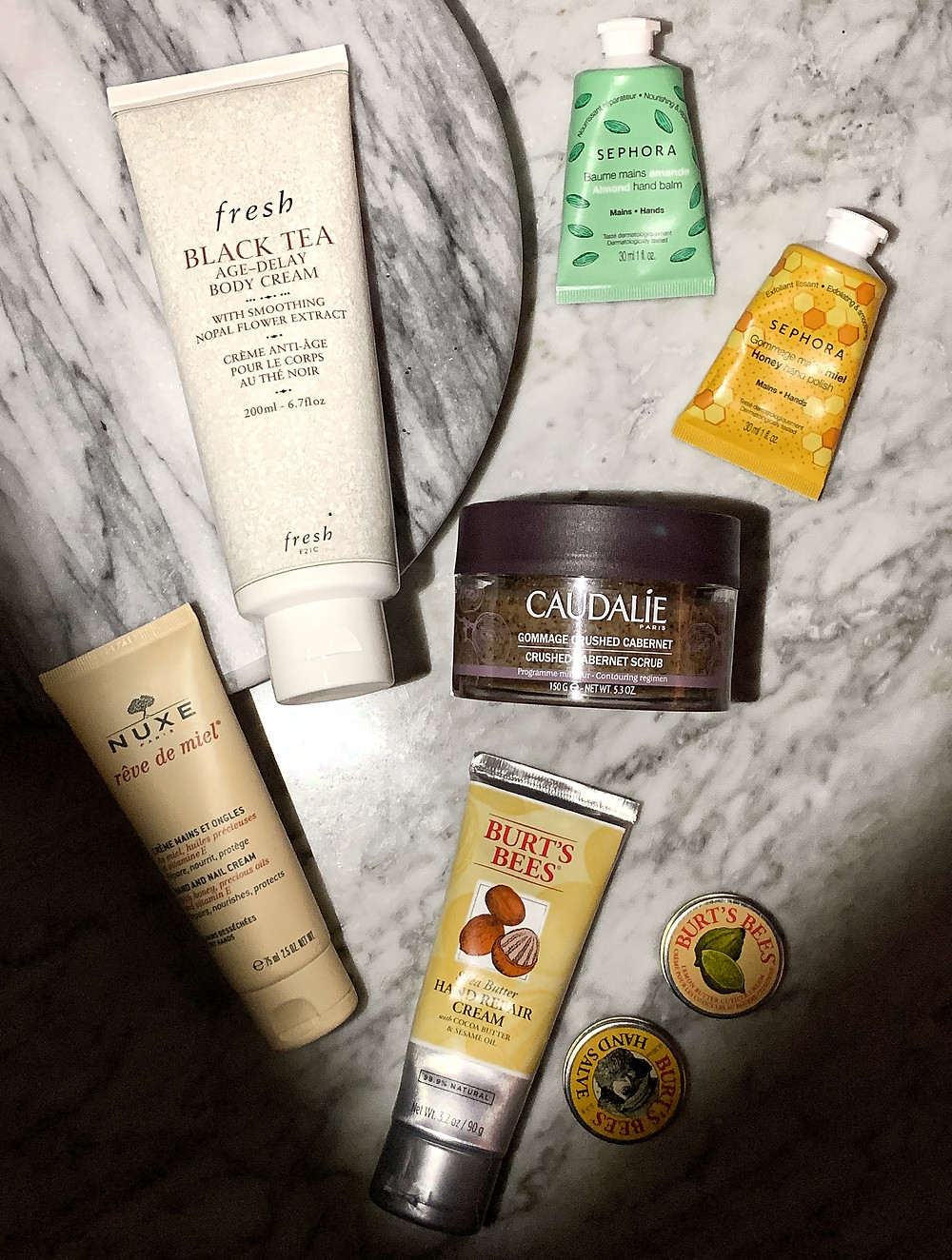 Golden Edition, The Beauty Edit Review, Body Care, Beauty Products for Winter, Caudalie, Dry Skin, Nuxe, Fresh Beauty, Sephora Collection, Burt's Bees, Hand Cream, Exfoliator, Body Cream, Skin Care