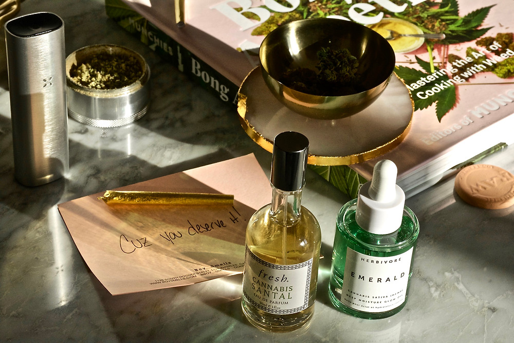 The Golden Edition, The Wellness Edit, 420, Weed, Cannabis, Weed Beauty, Fresh Beauty, Herbivore, Pax, Gold Joint, Bong  Appetit Book, Boy Smells Kush Candle, Weed and Beauty